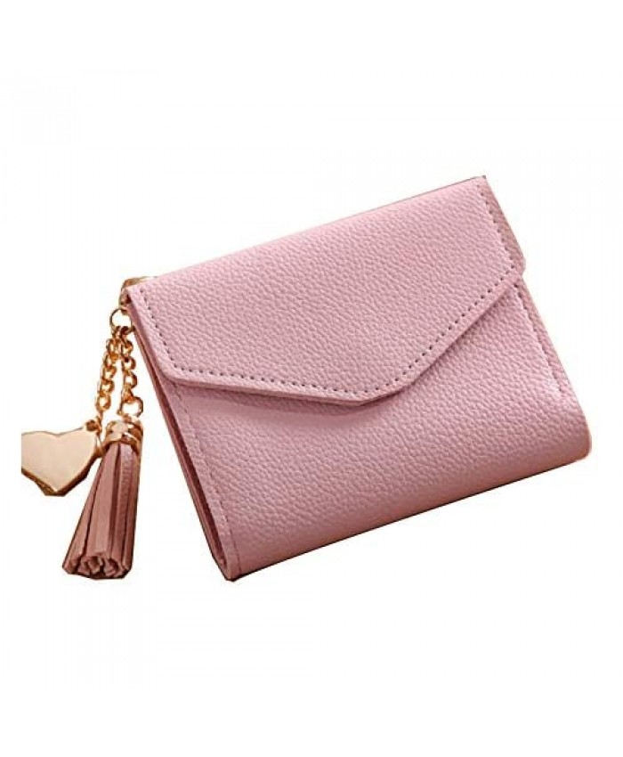 JewelryPal Small Synthetic Leather Wallet for Women Girls Credit Card Holder Purse