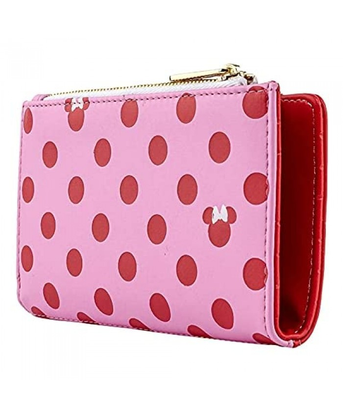 Loungefly Disney Minnie Mouse Pink Polka Dot Pattern Faux Leather Wallet