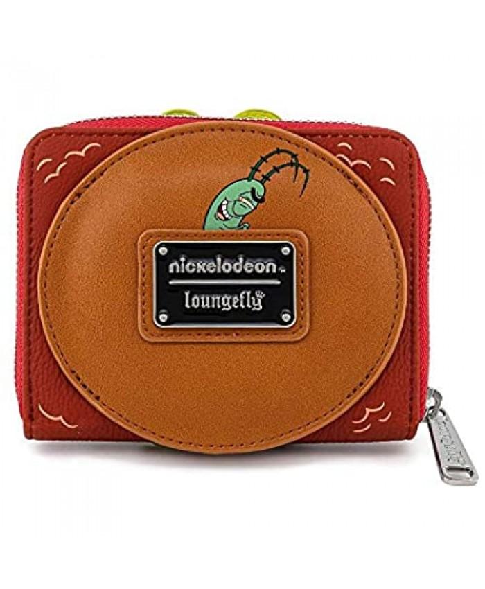 Loungefly x SpongeBob SquarePants Plankton Krabby Patty Zip-Around Wallet (Multi)
