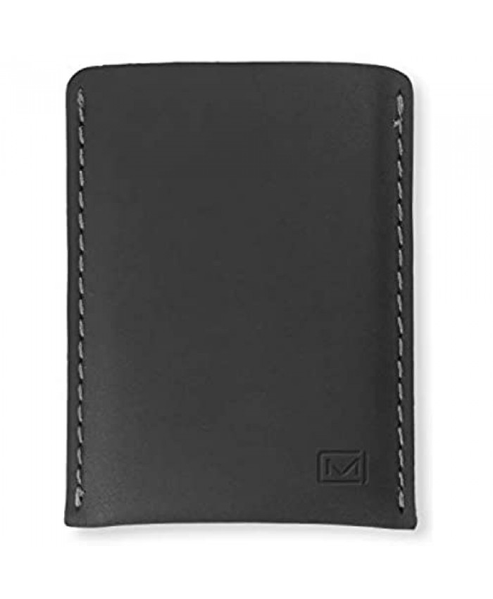 Modern Carry - Leather Minimal Card Holder Minimalist Wallet for Men and Women Credit Card Holder Business Card Holder Card Holder Wallet Card Wallet - Full Protection (Black)
