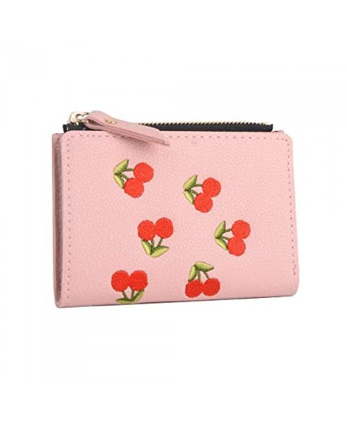 Nawoshow Women Cute Small Wallet Cherry Pattern Coin Purse Card Holder Clutch Bag