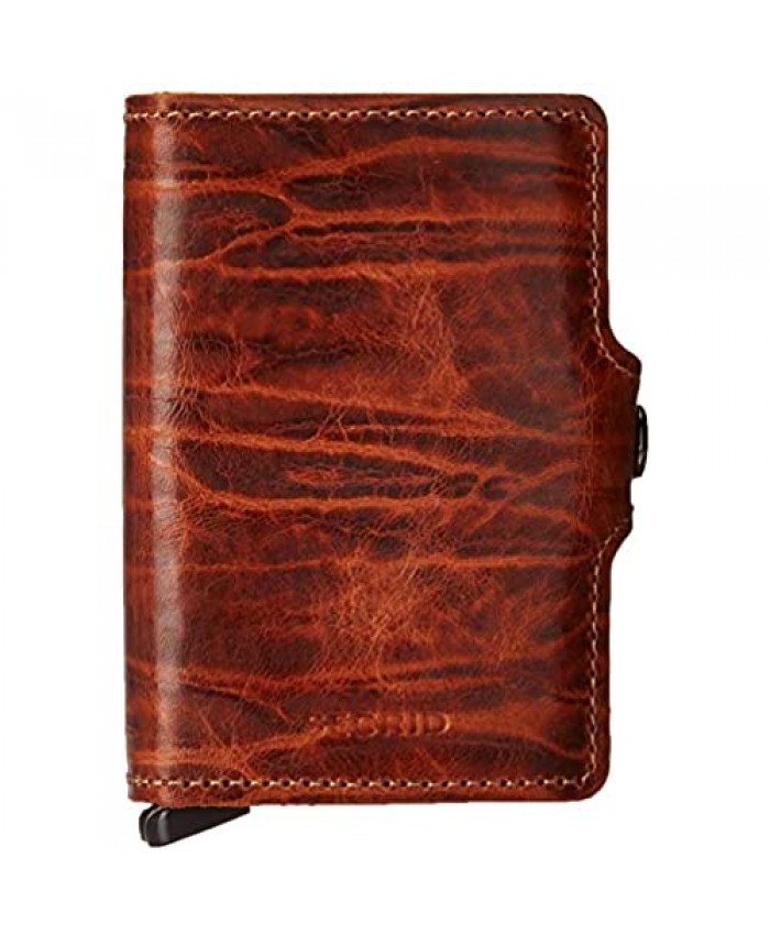 Secrid Twin Wallet Genuine Leather with RFID Protecton Holds up to 16 Cards