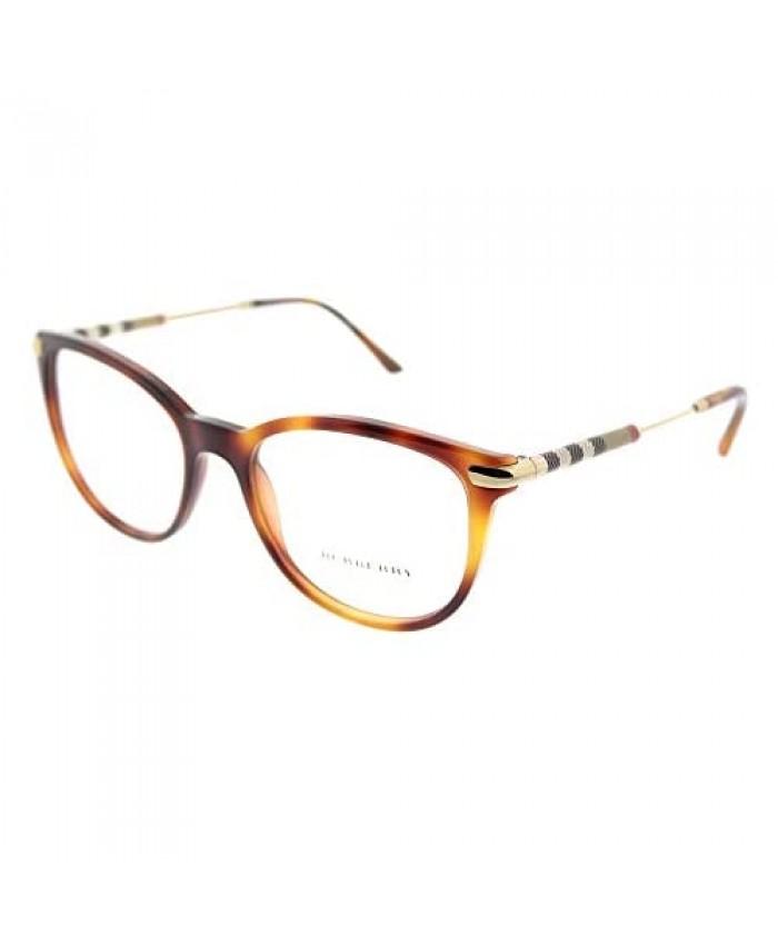 Burberry BE 2255Q 3316 Light Havana Plastic Square Eyeglasses 51mm