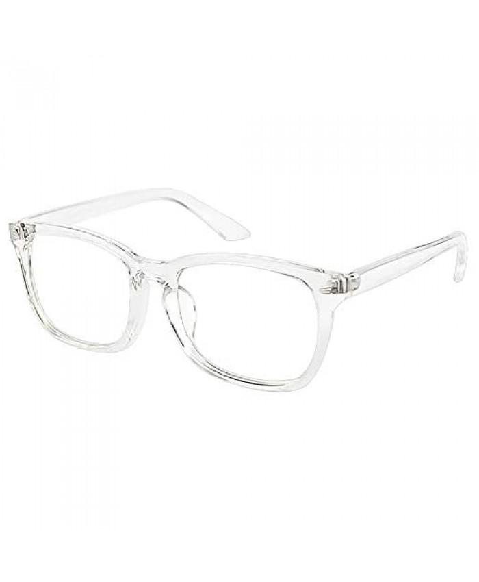 Cyxus Unisex Stylish Square Non-Prescription Eyeglasses Glasses Clear Lens Women Men Eyewear