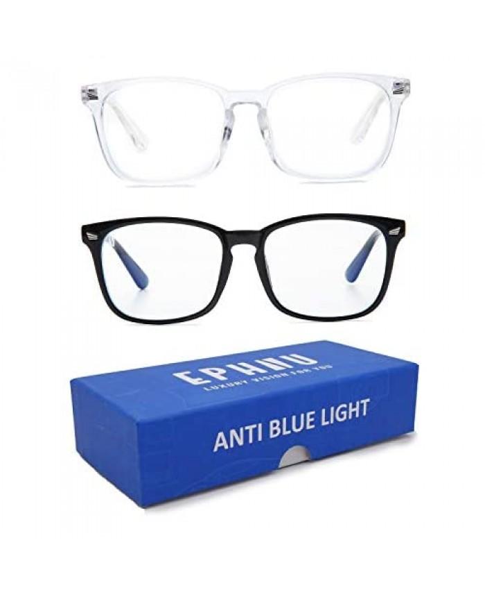 Ephiu Blue Light Blocking Glasses Non Prescription Eyeglasses Frame