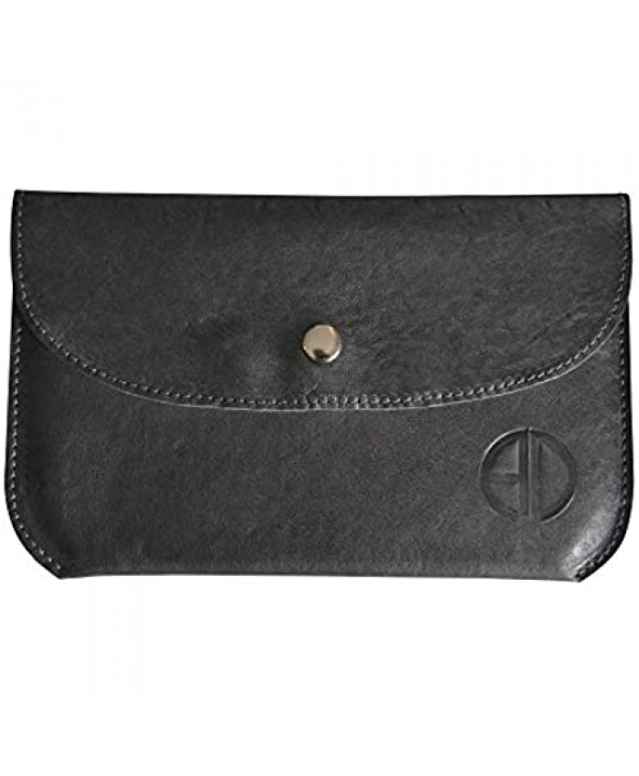 ALICIA DAKTERIS | Medium Pouch in Black Italian Leather Made in USA
