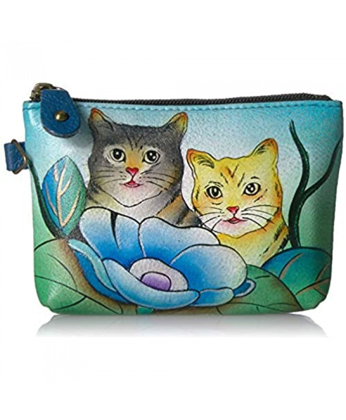 Anna by Anuschka Women's Hand Painted Leather Coin Pouch Purse