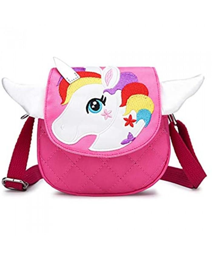 Crossbody Purse Shoulder Bag Mini Cute Unicorn Purses Bags Cartoon Animal Messenger Handbag