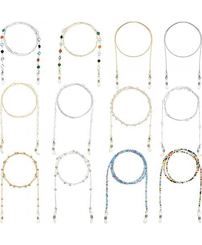 12 Pieces Eyeglass Chain Eye Glasses Accessory Chain for Women