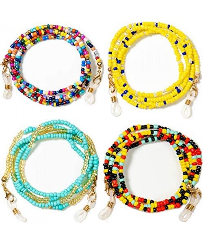 4 Pack Face Mask Chain Face Mask Lanyards for Women/Eyeglass Holder