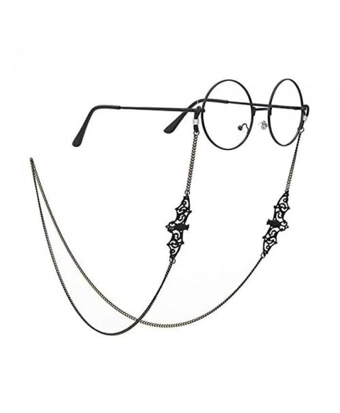 OKA Women Glasses Chain Black Bat Glasses Strap Eyeglass Holder for Women Men Girls