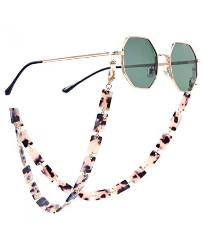 Yokawe Acrylic Mask Chain Multifunction Face Mask Lanyards Holder Around Neck for Women Glasses Sunglass Chain Necklace