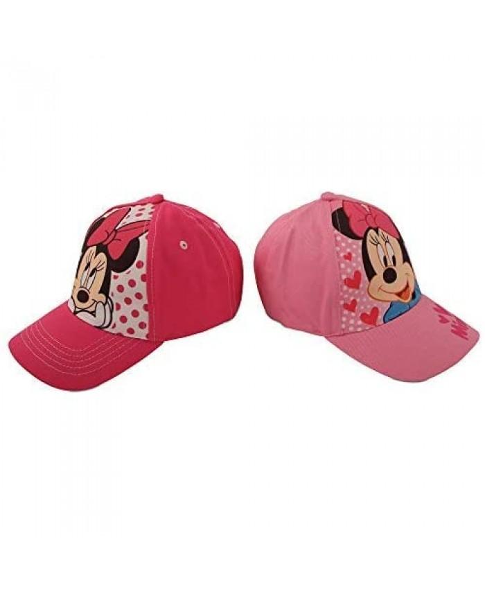 Disney Girls 2 Pack Cotton Baseball Cap: Minnie Mouse Fancy Nancy Vamperina (Toddler/Little Girls)