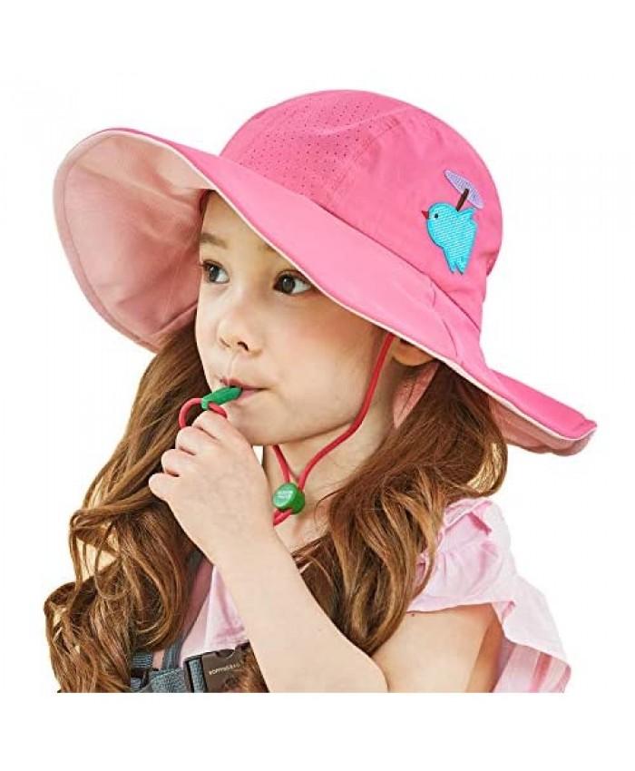 Kids Sun Hat Girls [5 Colors] Kids Sun Hat Boys I UV Sun Protection Hat I Foldable Ponytail Outdoor