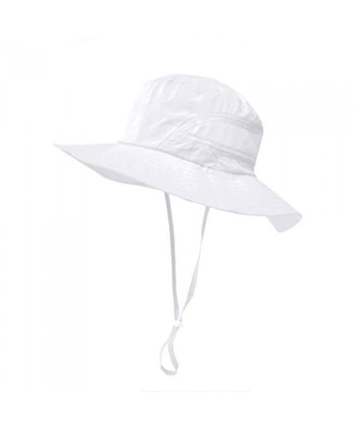 Lenikis Kids Sun Hats UPF 50+ Sun Protection Hat Summer Wide Brim Bucket Hat Adjustable Strap Toddler Sun Hat