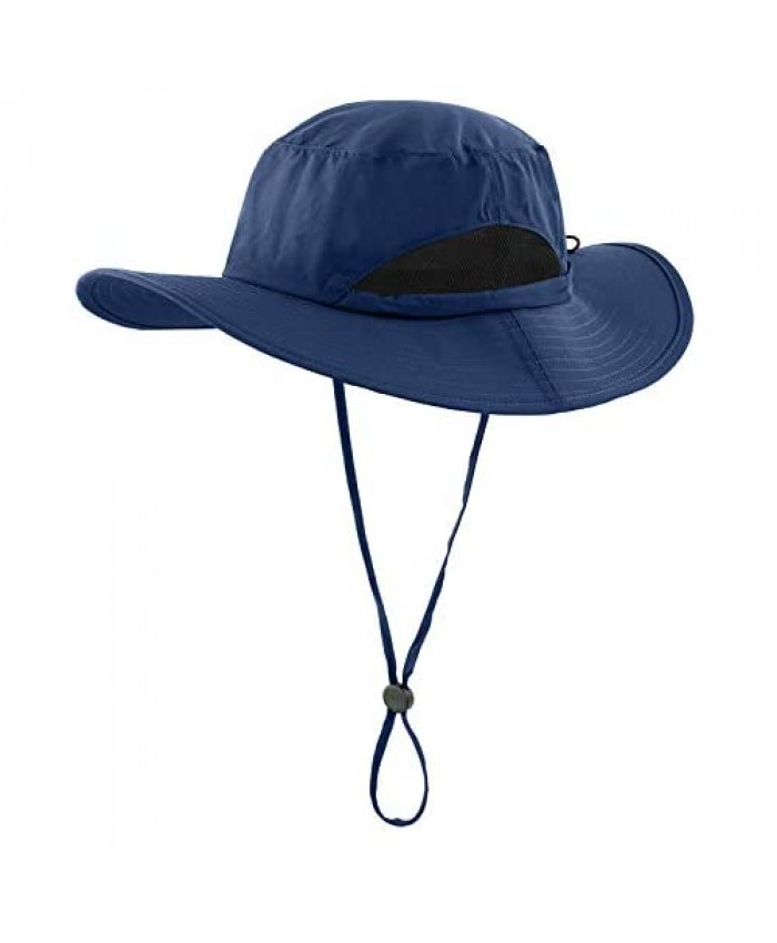 LLmoway Kids Sun Protection Hat Quick Dry Adjustable Wide Brim Mesh Bucket Hat