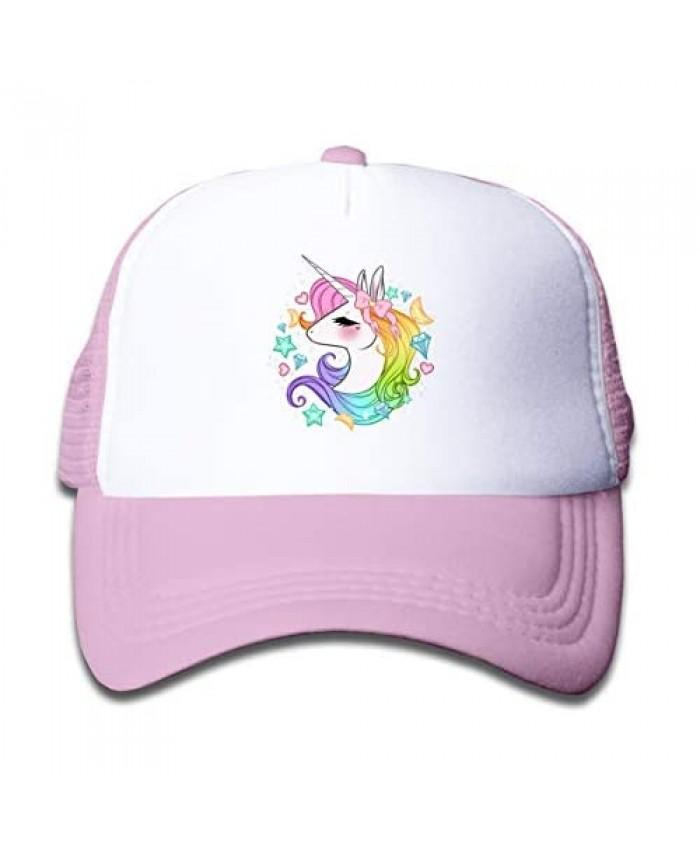 Waldeal Girls' Cute Unicorns Trucker Mesh Cap Kids Adjustable Baseball Golf Hat