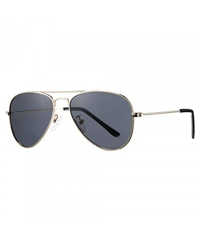 COASION Classic Polarized Small Aviator Sunglasses for Kids Baby Girls Boys Age 2-10 50MM