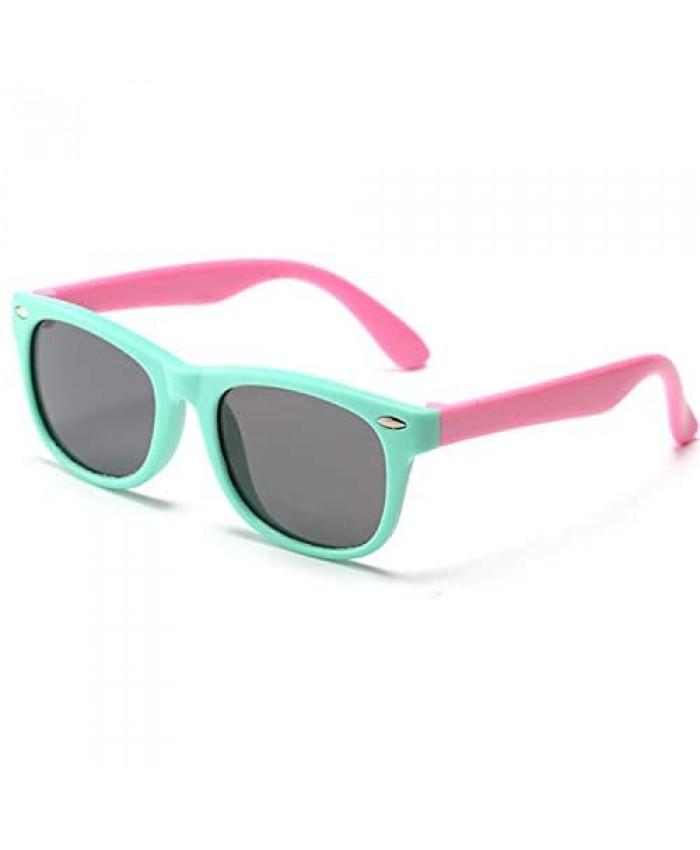 Kids Polarized Sunglasses TPEE Rubber Flexible Children's Sunglasses for Boys Girls Age 3-10 100% UV Protection