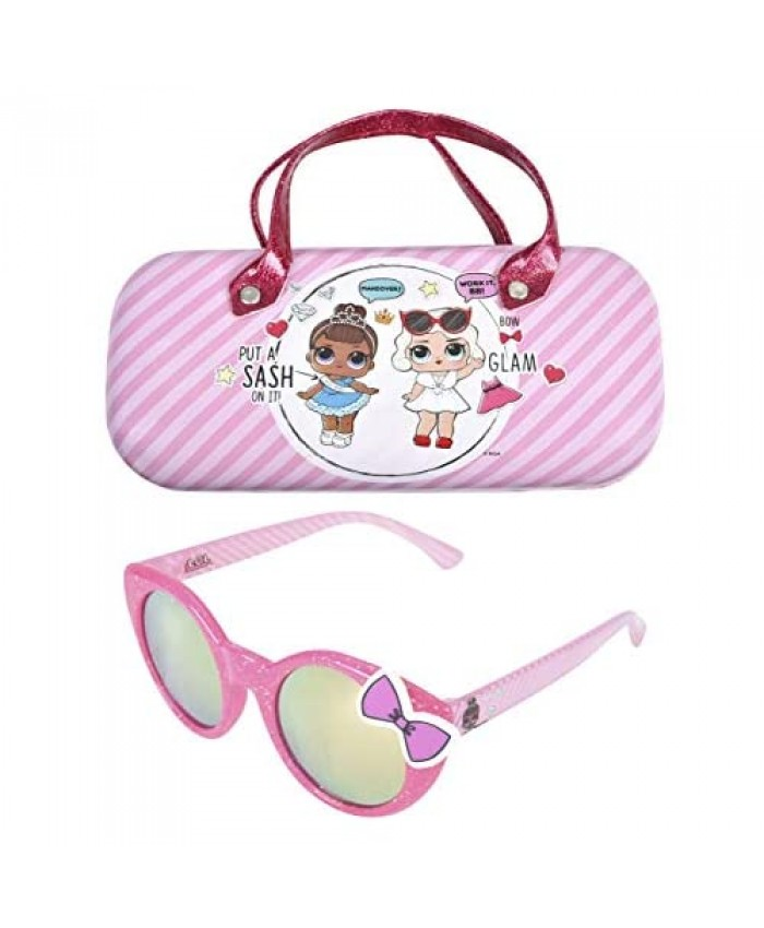 LOL Surprise Kids Sunglasses for Girls Toddler Sunglasses with Kids Glasses Case