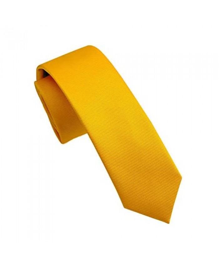 Fortunatever Mens Solid Color Tie Slim&Formal Necktie With Multiple Colors(2.36''&3.35'')