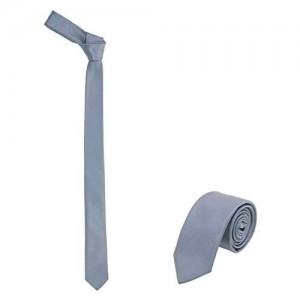 """JNJSTELLA Men's Solid Skinny Necktie 2"""" Tie"""