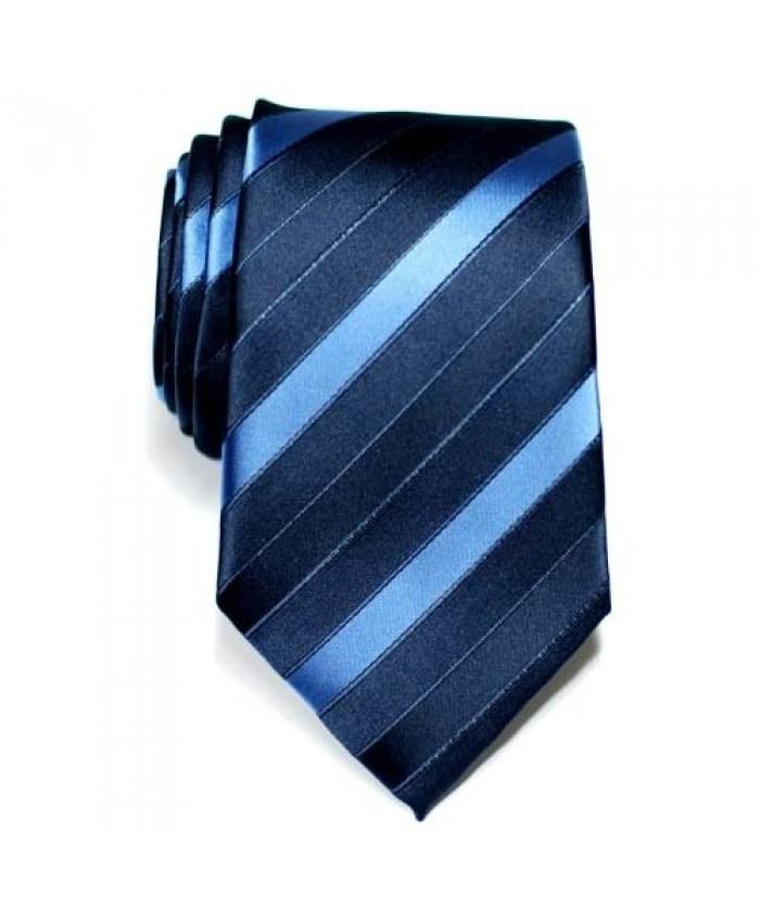 Retreez Three-Colour Stripe Woven Microfiber Men's Tie Necktie