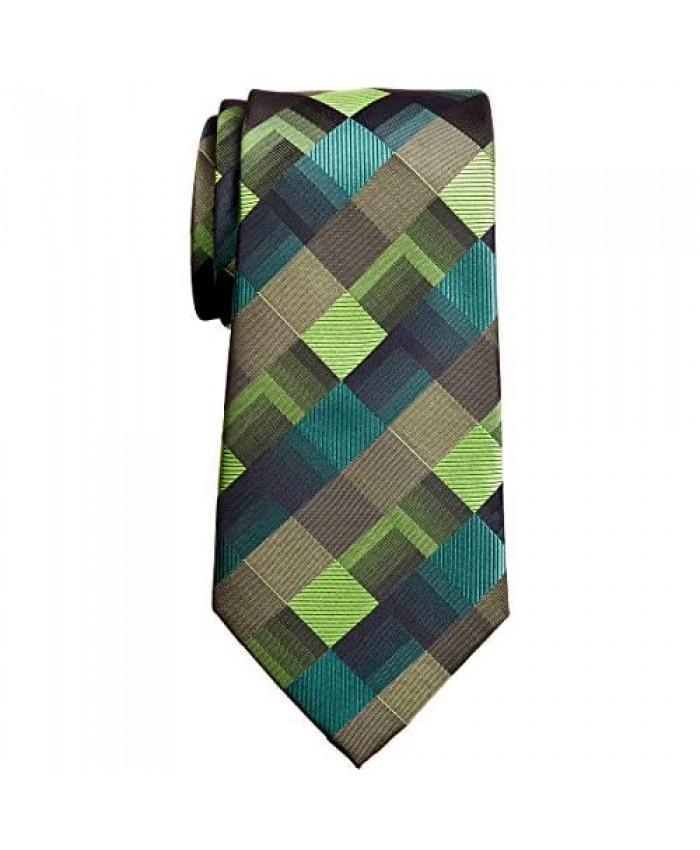Retreez Vintage Geometric Pattern Woven Microfiber 3.15 Men's Tie - 6 Colors