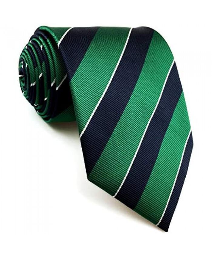 S&W SHLAX&WING Men's Ties Necktie Green Blue Stripe