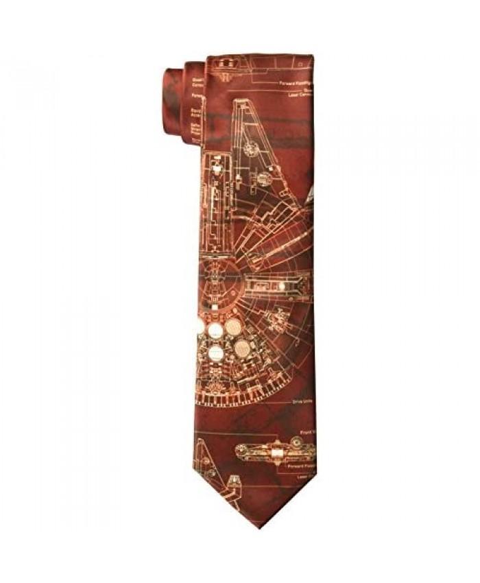Star Wars Men's Millennium Falcon Tie Red One Size